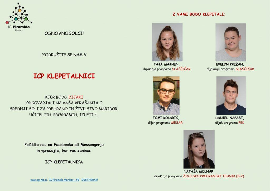 Predstavitev IC Piramida Maribor in devetošolce vabi na spletne dogodke