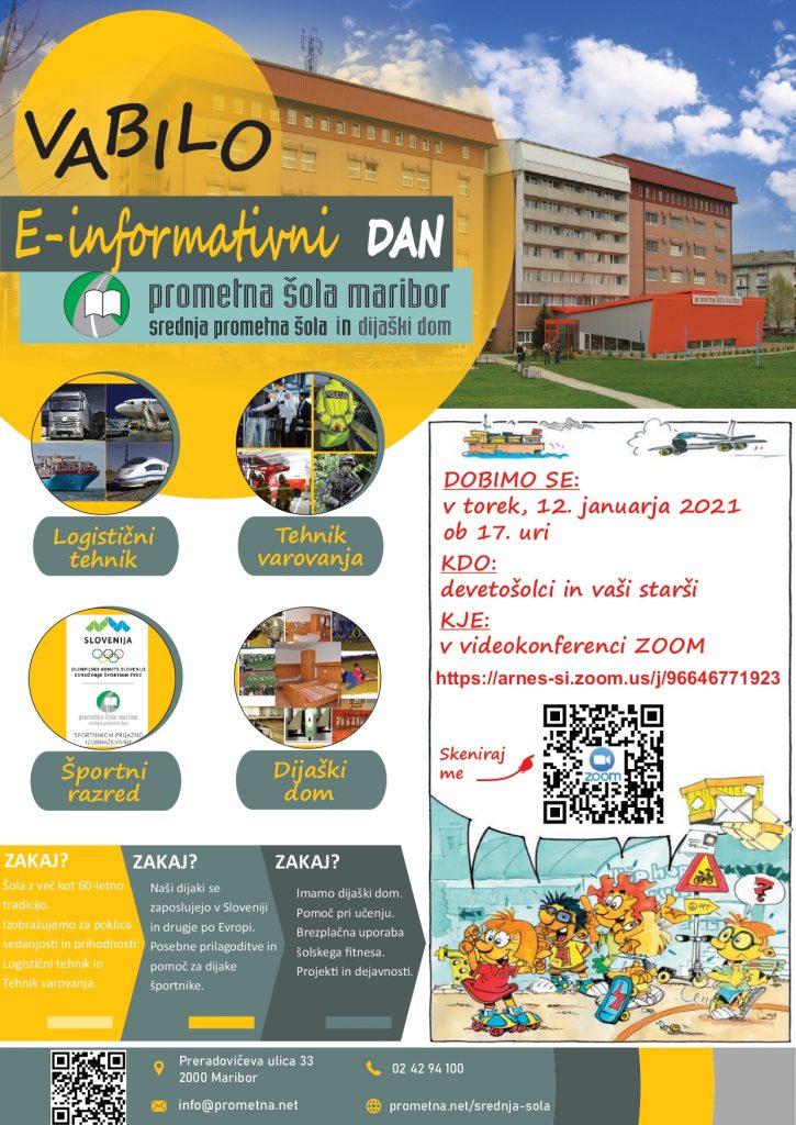 E-informativni dan na Srednji prometni šoli Maribor