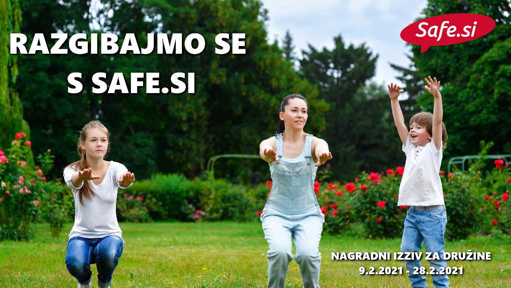 Safe.si nagradni izziv za družine: Razgibajmo se s Safe.si